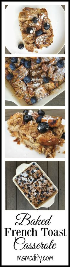 overnight baked french toast casserole {gluten free}. Once you try this, you'll never individual servings of French toast again!