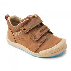 Start-rite Super Soft Beetlebug, Brown Leather Riptape Casual Shoes - Boys Shoes
