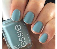 Loving this essie teal light blue polish