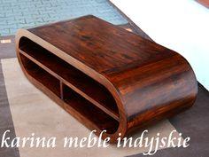 Stolik z palisandru - #meblekolonialne http://karinameble.pl/  Nowoczesny stolik o oryginalnej formie, wykonany ręcznie z palisandru indyjskiego. Taki mebel będzie piękną ozdobą Twojego salonu. Minimalistyczna linia mebli z kolekcji Apple znakomicie podkreśla i wydobywa urodę egzotycznego drewna.