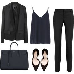 """Minimal + Classic: """"Blue IV"""" by andreaceja on Polyvore"""