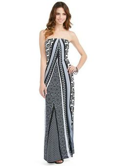 701455344e9 Cato Fashions Strapless Patterned Maxi Dress  CatoFashions Def. one of my  favorite Cato s dresses
