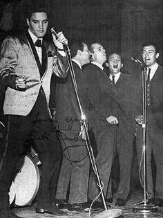 February 25, 1961 - Elvis and the Jordanaires at Ellis Auditorium. afternoon show - Charity Event. Afternoon and evening shows together raised $51,612.