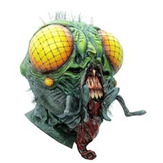 A true classic of science fiction horror is now an awesome super detailed mask, full over the head mask, individually hand painted for the most realistic look possible. Horror Masks, Horror Art, Haloween Mask, Fly Costume, Mask Makeup, Scary Mask, Head Mask, Adult Costumes, The Collector