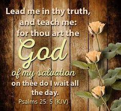 Psalms 25:5 (KJV)