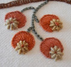 Anna Scott. Love these wool embroidery stitches together.