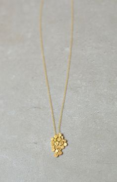 Gold cluster necklace, Christmas gift, gold fill chain, studio baladi, delicate, gold bunch, bride necklace, wedding, designer necklace