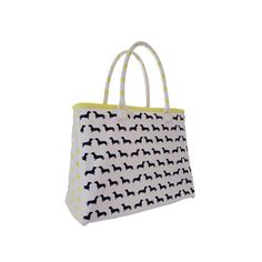 Dachshund Tote Bag | Designer dog bedding and stylish pet accessories by Kelly & Sam