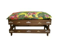 maxi-banco-arabesco-c-almofadao-70-cm-decoracao-rustica Vanity Bench, Storage, Furniture, Home Decor, Bench Seat, Arabesque, Throw Pillows, Purse Storage, Decoration Home