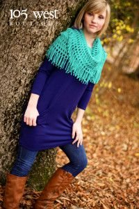 Fallin' for Fringe Scarves.  Various colors available.  $14 each.  ~ 105 West Boutique located in Abbeville, SC.  (864) 366-WEST.  Look for us on Facebook!