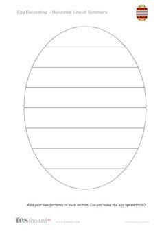 Teacher's Pet Easter Egg Symmetry Premium Printable