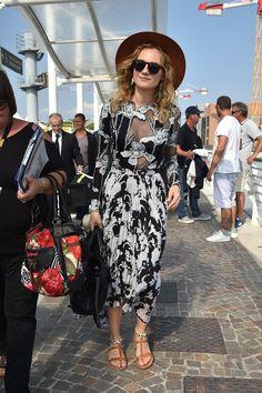 Diane Kruger Arriving in Venice.   - ELLE.com