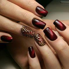 Accurate nails, Amazing nails, Bold nails, Evening dress nails, Extraordinary nails, Fashion nails 2016, Gradient nails 2016, Interesting nails