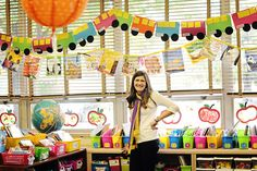 I love this colorful classroom!