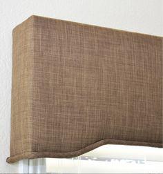 Linen Texture in color Tobacco - closeup