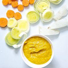 White Fish + Carrot + Leek Puree