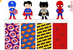 Superheroes Free Printable Original Nuggets Wrappers.