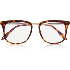 Victoria Beckham D-frame acetate optical glasses ($530) ❤ liked on Polyvore featuring accessories, eyewear, eyeglasses, glasses, sunglasses, occhiali, tortoiseshell, acetate glasses, victoria beckham glasses and tortoise shell glasses