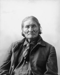 "Geronimo (1829 –  1909) was a prominent leader of the Bedonkohe Apache who fought against Mexico and the United States for their expansion into Apache tribal lands for several decades during the Apache Wars. ""Geronimo"" was the name given to him during a battle with Mexican soldiers. During his career as a war chief, he was notorious for consistently urging raids upon Mexican towns, and later against locations across Arizona, New Mexico and western Texas. This photo was shot in 1898."