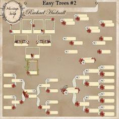 Easy Trees Set 2 by Rachael Hudnal