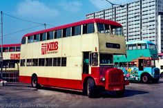 Kowloon Motor Bus / KMB 1969 Daimler / Metal Sections , AD 7264 on route in KMB Anniversary livery Paper Train, Double Decker Bus, Busses, Hong Kong, 50th Anniversary, History, 1970s, Nostalgia, Photography