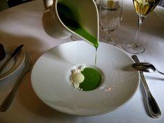 Søllerød Kro - Amuse Bouche - Grøn gazpacho – Sorbet på oliven – Sne 4   Flickr