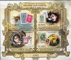 Francobolli . Lotta contro la malaria - Malaria on Stamps Mozambico 2013