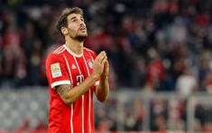 Download wallpapers Javi Martinez, 4k, match, footballers, Bayern Munich, Bundesliga, Martinez, soccer, football