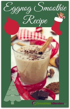 Eggnog Smoothie Recipe, yes, you read this correctly. An eggnog smoothie recipe that kids will enjoy and if you make the adult version this may be the party favorite.  SmoothiesAndBlenders.com