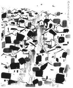 Wu Guanzhong: The Swallows Fly Home, 1988, 70x70