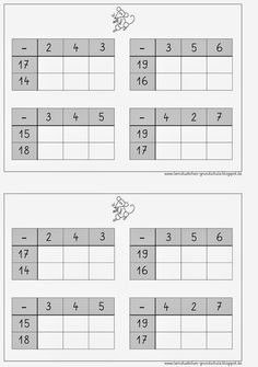 Lernstübchen: Subtraktion im 2. Zehner Math For Kids, Diy For Kids, Home Schooling, Algebra, Kids Education, Learning Activities, Mathematics, Worksheets, Back To School
