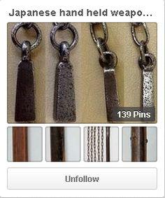 Japanese hand held weapons. Jutte, juitte, kusarigama, kusari-fundo etc. http://www.pinterest.com/nihonnokatchu/japanese-hand-held-weapons/