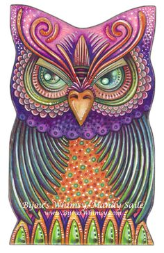 "Owlette OBERON - PRINT 8 x 10"" by Mandy Saile"