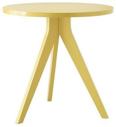 Tripod Table, Tumeric modern side tables and accent tables
