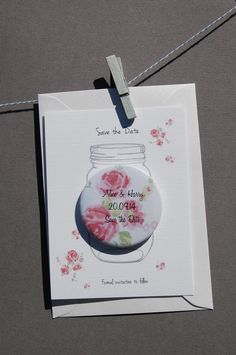 20% OFF FOR A LIMITED OFFER Country Rose Save The Date Magnet Cards Pack of 10 £21.20