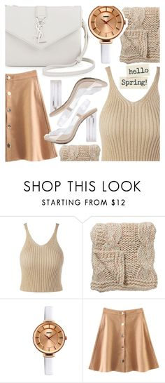 """""""Neutrals and transparent"""" by pastelneon ❤ liked on Polyvore featuring Yves Saint Laurent and Bloomingville"""
