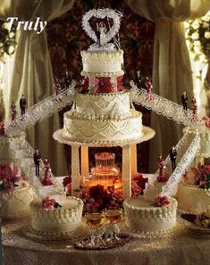 Crystal Fountain Cake Photo: This Photo was uploaded by Tonjha. Find other Crystal Fountain Cake pictures and photos or upload your own with Photobucket. Fountain Cake, Fountain Wedding Cakes, Fruit Wedding Cake, Big Wedding Cakes, Floral Wedding Cakes, Amazing Wedding Cakes, Elegant Wedding Cakes, Wedding Cake Designs, Wedding Cake Toppers
