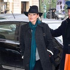 Kate Moss & Nikolai Von Bismarck are seen at the Louis Vuitton fashion show in Paris