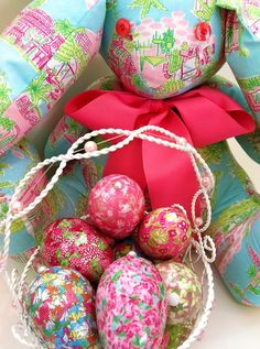Lilly Pulitzer Easter eggs.