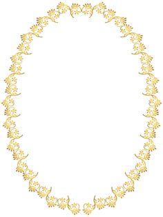 Oval Frame Transparent Clip Art Image