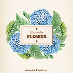Hand painted watercolor flower Free Vector