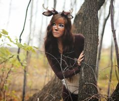 Diy deer costume step by step! Soooo awesome. May try but also add a tutu for Cute purposes lol