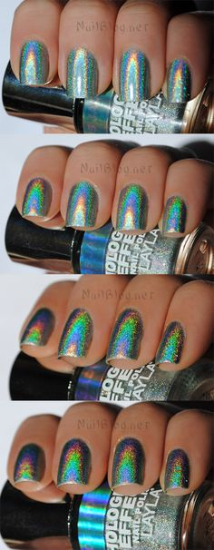 Layla Hologram Effect Nail Polish Swatch