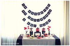 Banderitas o banderolas de decoracion de la mesa candybar