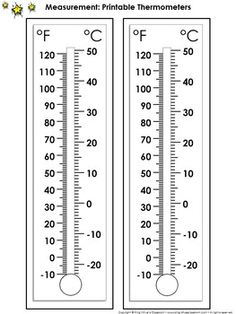 Thermometer Measurement Tools: Printable Thermometer Celsius and Farenheit Preschool Learning Activities, Teaching Math, Goal Thermometer, Science Tools, Parent Communication, Teacher Supplies, First Grade Reading, 3rd Grade Math, School Organization
