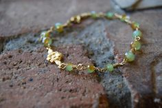Little Flower Chaplet green by TheseJoyfulAches on Etsy