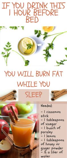 If You Drink This 1 Hour Before Bed You Will Burn Fat While You Sleep