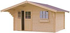 Blokhut / tuinhuisje model Alex 300 met afmetingen 398 x 318 cm (b x d) van Outdoor Life Products