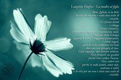 """Una bella poesia di Langston Hughes """"La madre al figlio"""" alle volte conosciuta come """"La scala di cristallo"""".  """"Bene, figliolo, te lo dirò: la vita per me non è stata una scala di cristallo. Ci furono chiodi e schegge ed assi sconnesse, e tratti senza tappeti sul pavimento nudi. Ma per tutto il tempo seguitai a salire, e raggiunsi pianerottoli, e voltai angoli e qualche volta camminai nel buio dove non era spiraglio di luce. #LangstonHughes, #madre, #figlio, #vita, #poesia, #italiano"""