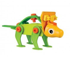 Go back to pre-historic times and make this little Meccano Triceratops!